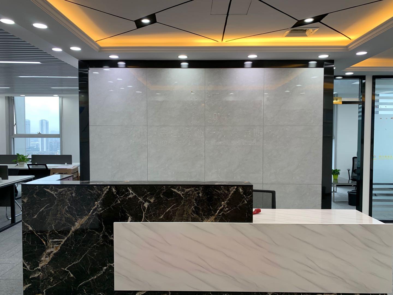 金牛万达226平米!臻品装修 中置前台形象墙丨彰显公司实力