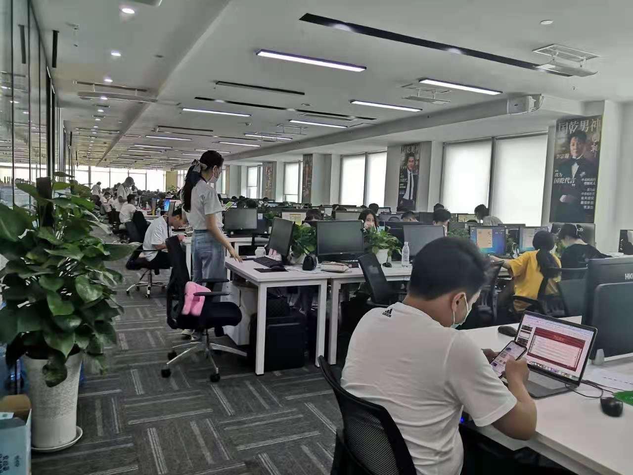 直播行业丨雄川金融中心 1402平 纯商务风装修  毗邻金融城  160工位