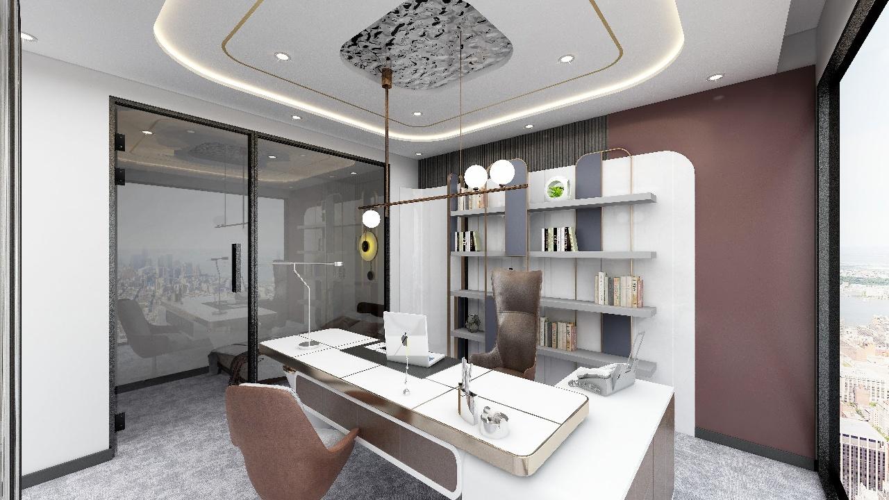 艺术设计!电梯口丨三街地铁口新希望国际 671平豪华办公室