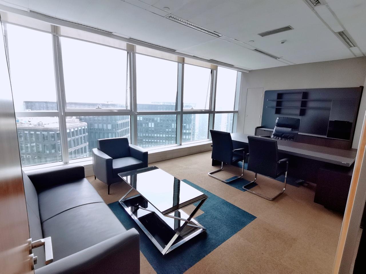 世纪城 希顿国际368平米 顶层视野 大气接待室 高新区写字楼 高新区办公室 租小团