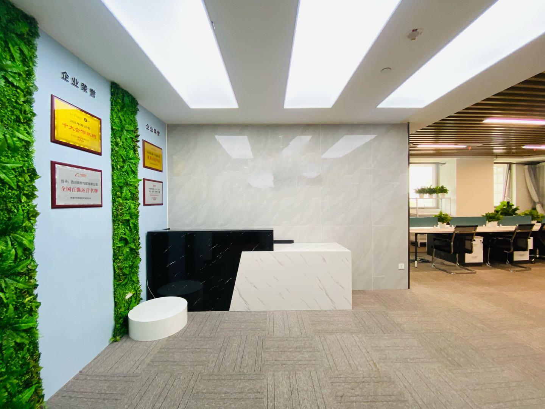 高新武侯剑恒发展中心写字楼出租158平3隔间16工位精装带家具甲级无加时费