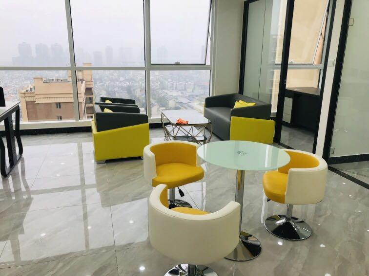 龙泉书房地铁口铂金汇精装办公室 双面采光 龙泉政务中心旁