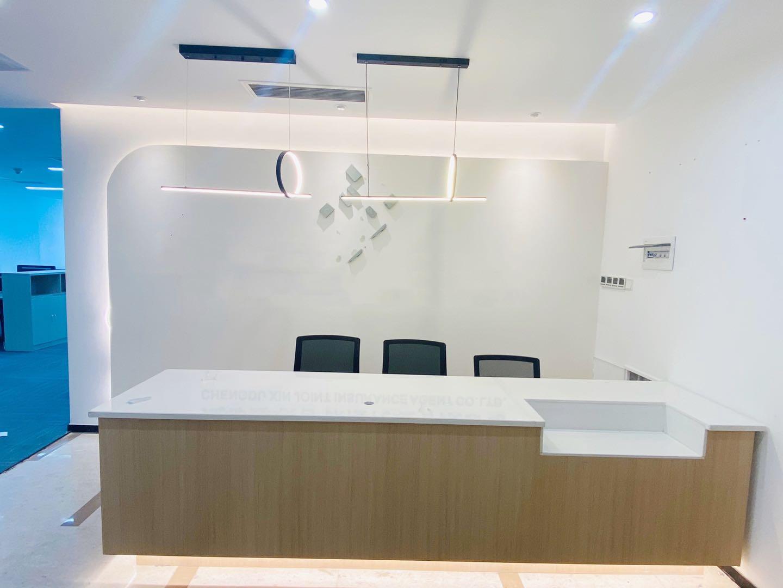 骡马市(富力中心)电梯口273平大气前台现代纯白风格