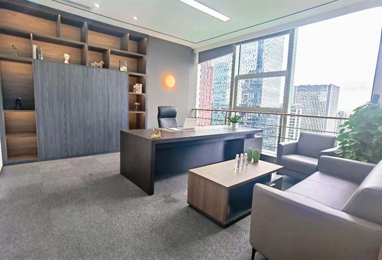 高新区天府三街OCG国际超甲级308平4隔间12工位豪装现房遥望龙泉山超大老板室价格可谈