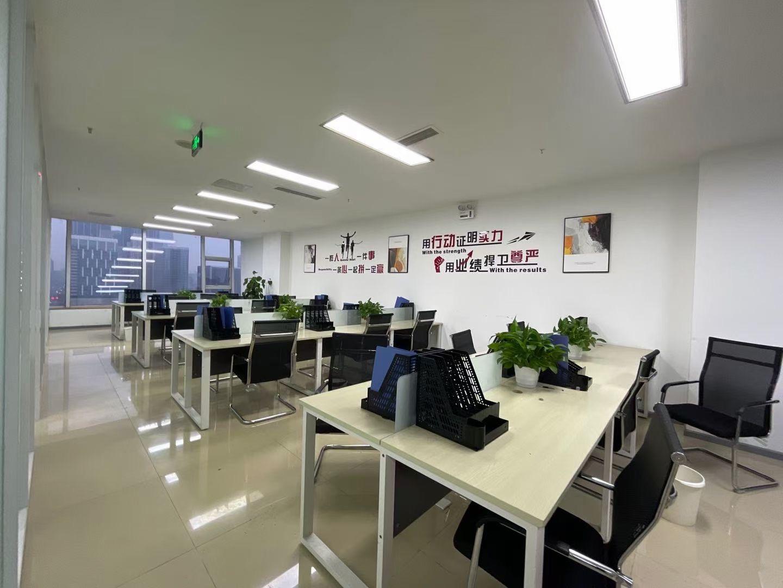 天府地标环球中心177平精装带家具高区视野3隔间23工位