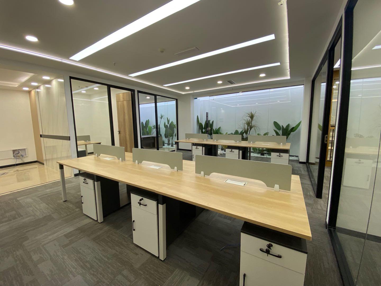 沃特国际 4隔间164平米 纯户型方正办公空间
