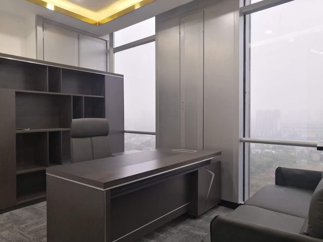 绿地468锦峰-285平米-纯黑商务风 全新装修