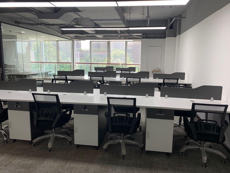 大气形象前台 商鼎国际170平米 丨3隔接待办公一体